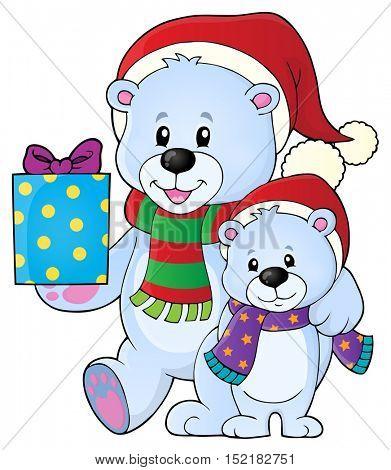 Christmas bears theme image 5 - eps10 vector illustration.