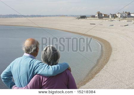 Senior couple enjoy the view.