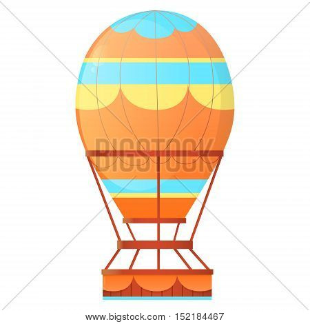 Aerostat. Vintage balloon hot air isolated on white background. Vector illustration