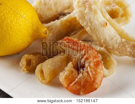 Fried Fish Over White Plate