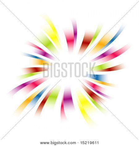 Rainbow burst vector.