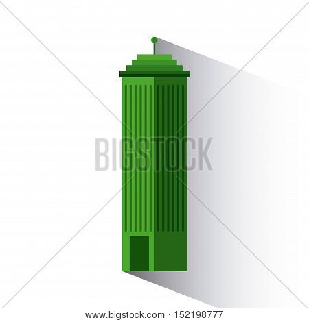green building isolated icon vector illustration design