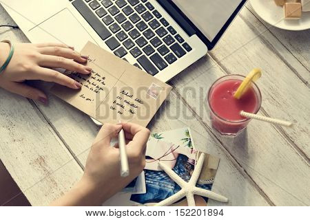 Writing Card Personal Letter Concept
