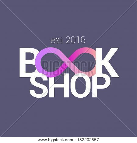 Bookstore bookshop vector sign icon symbol emblem logo. Template graphic design element for business related to books studying publishing