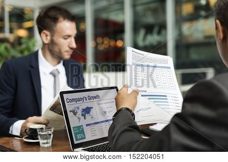 Business Report Research Laptop Monitor Concept