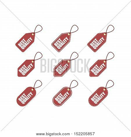 Set of Best Quality Tag Labels. Promotional.