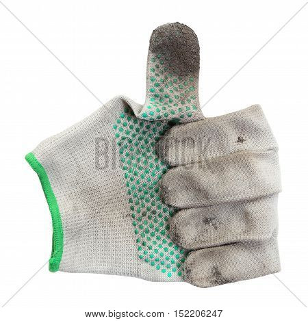One glove shaped everything is fine. dirty glove