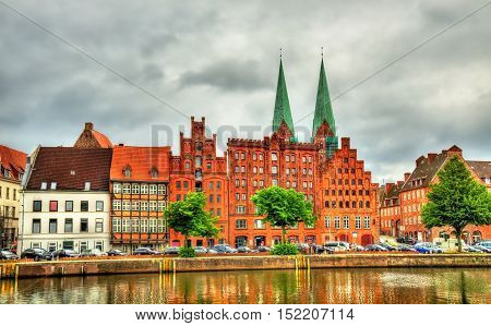 Buildings in the old town of Lubeck - Germany, Schleswig-Holstein