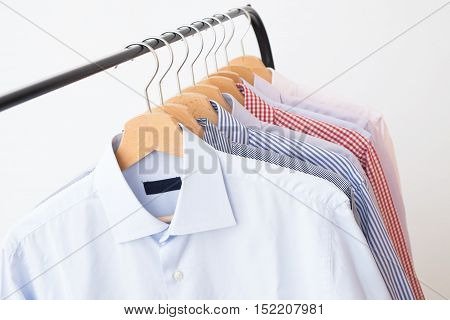 Shirts different in several colors and textures