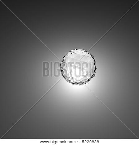 Prisma estilo bola brilhante