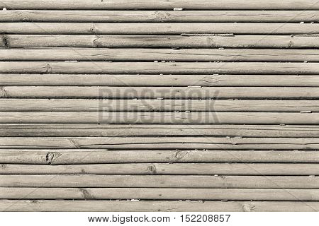 old wooden shafts or corrugated texture of uneven background of beige color