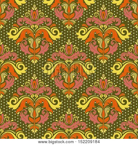 Seamless classic vector colorful pattern. Traditional orient ornament