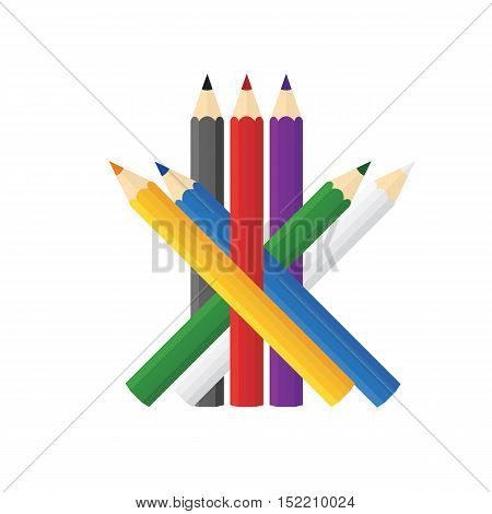 Color Wooden Pencils Concept By Sort Random Pattern