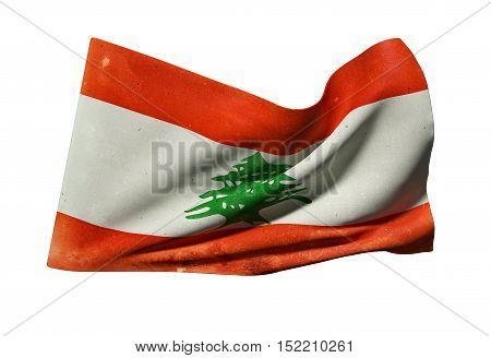 Lebanon Flag Waving
