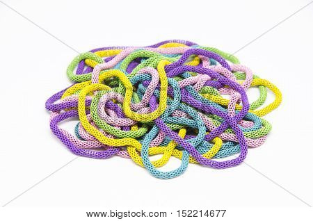 necklace accessory colorful isolead on white background