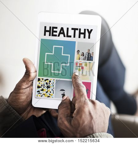 Cross Hospital Treatment Health Cure Browsing Concept
