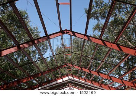Stahlrahmen Dach Balken