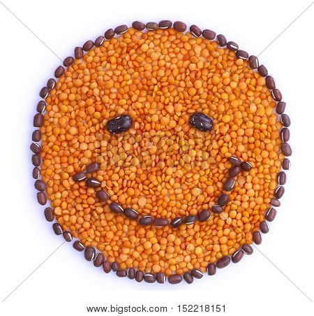 Smiley Face Made Of Seeds