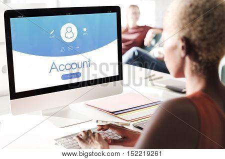 Account User Profile Registration Concept