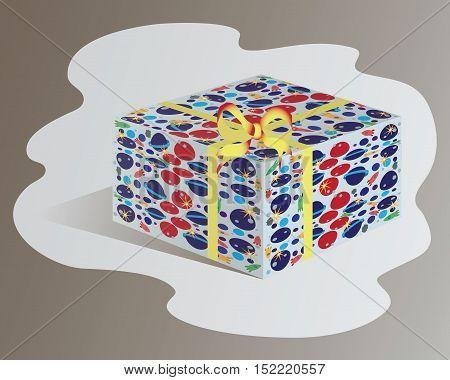 Gift box. Design for children. Vector image