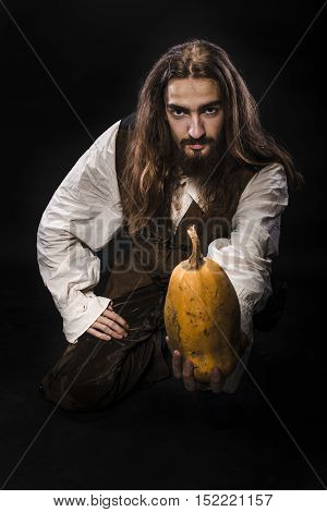 Pirate With Pumpkin