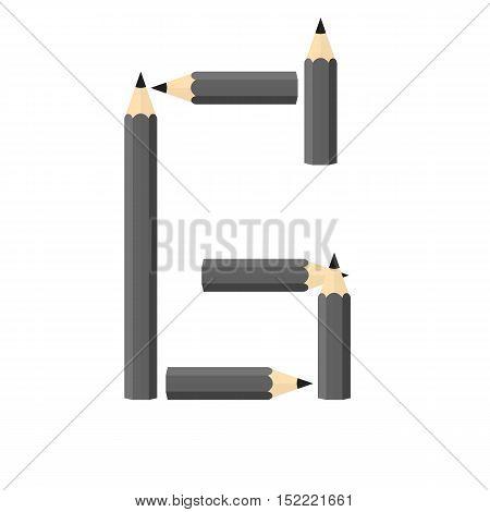 Color Wooden Pencils Concept By Rearrange The Letters G