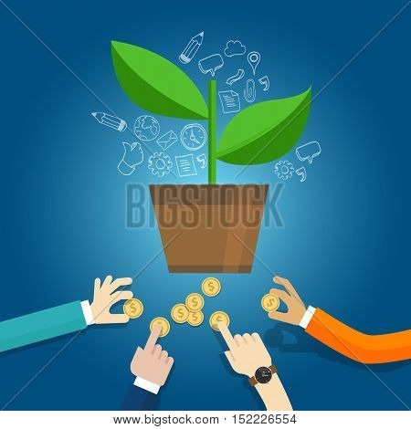 seed funding start-up early stage investment venture capital vector