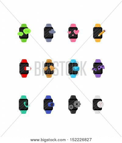 Great designed smart watch vector for illustrations