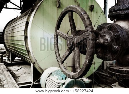 Place in a large industrial boilers outdoors
