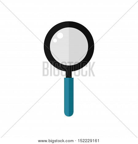 Magnifier isolated icon on white background. Magnifier modern tool. Education equipment. Flat vector illustration design.