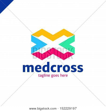 Cross Plus Medical Logo Icon Design Template Elements