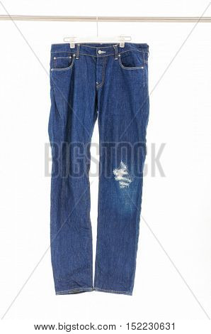 Blue Jeans Isolated on hanger