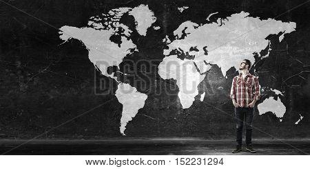 Travel around the world . Mixed media