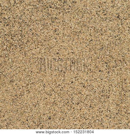 texture of yellow dry coarse sand closeup