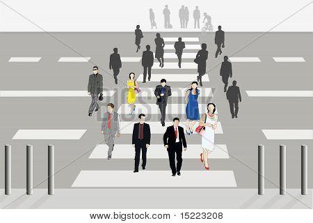 People Cross The Road