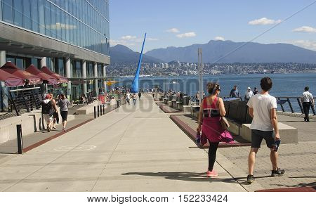 Vancouver, Canada - August 27, 2016: Vancouver Convention Centre