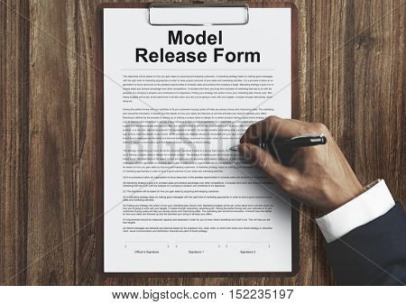 Model Release Form Application Concept