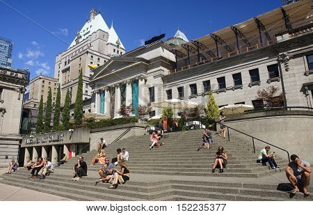 Vancouver, Canada - August 27, 2016: Vancouver Art Gallery On 27