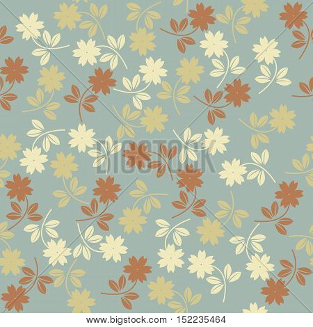 Spring floral seamless pattern can be used for surface textures, textile, kids cloth ,pattern fills ,web page backgrounds and more creative designs.