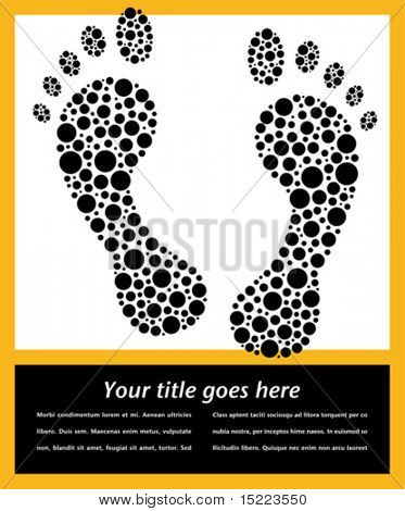 Footprint design with copy space vector.