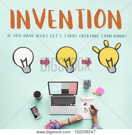 Invention Be Creative Design Inspiration Concept