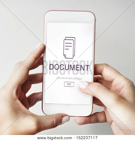 Document File Data Information Concept