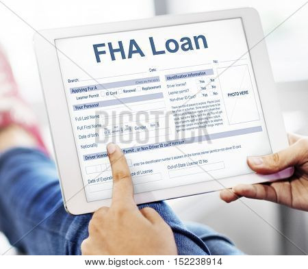 FHA Loan Federal Housing Administration Lending Concept
