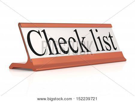 Check List Table Tag Isolated