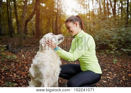 Happiness Is Petting Dog