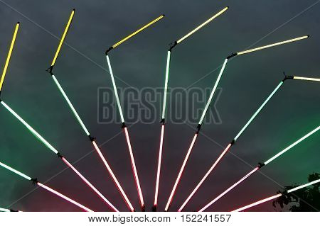 The fluorescent lamp in special beautiful festival