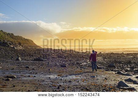 single tourist enjoying the view and surroundings