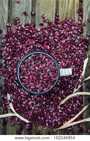 Organic Healthy Red Kidney Speckled Beans