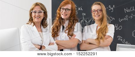 Scientist And Her Students