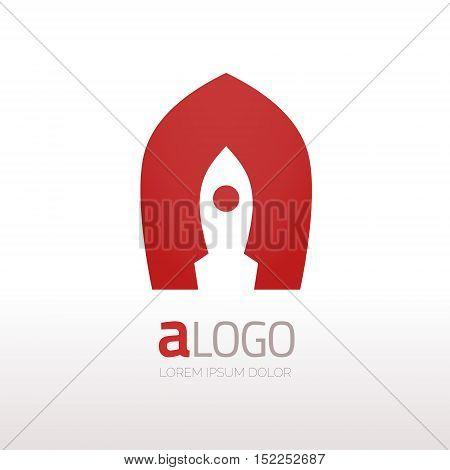 Creative rocket in A letter vector logo design. Vector sign. Character logotype symbols. Logo icon design for website